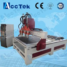 High speed Jinan AccTek 1325  three head machine for woodworking