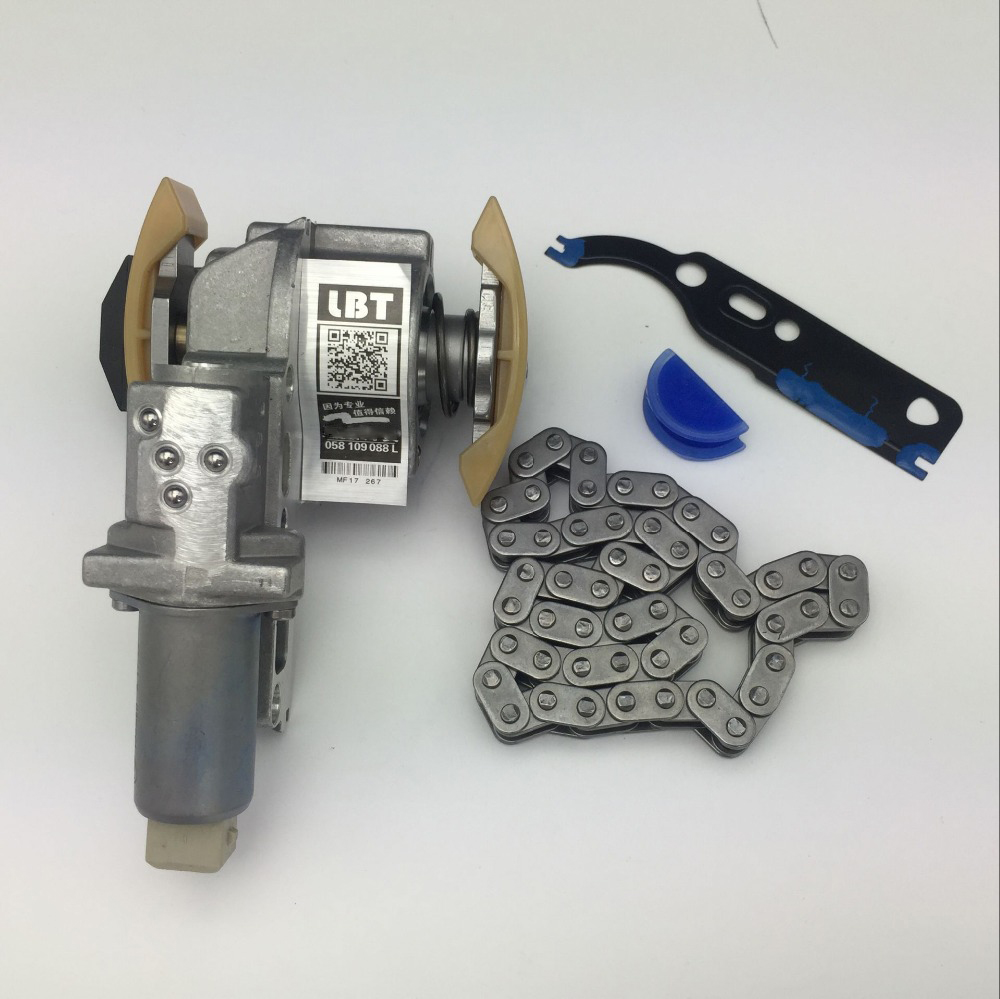1 Set Camshaft Timing Chain Tensioner Kit for VW Jetta Golf Passat Beetle 1.8 1.8T 058 109 088 L/058 109 229/058 198 217 a style 1 8l 1 8t camshaft timing chain tensioner for vw passat b5 jetta golf 4 seat toledo a3 a4 a6 tt 058 109 088 l 058109088l