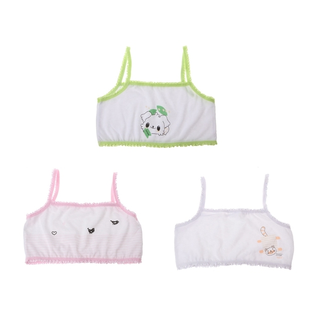 bb087f5df7f Hot New 1 Pc Cute Young Girls Training Bra Children Girl Cartoon Printing  Teenage Cotton Bras Kids Underwear High Quality