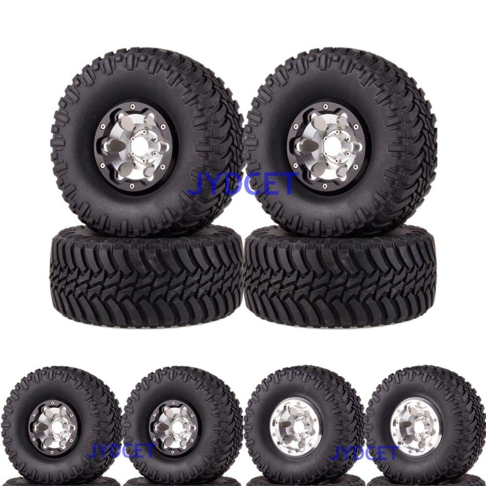 2023-3033 Aluminum 2.2 Beadlock Wheels Rims & Super Swamper Rocks Tyre 128mm 4pcs For RC 1/10 Climbing Rock Crawler2023-3033 Aluminum 2.2 Beadlock Wheels Rims & Super Swamper Rocks Tyre 128mm 4pcs For RC 1/10 Climbing Rock Crawler