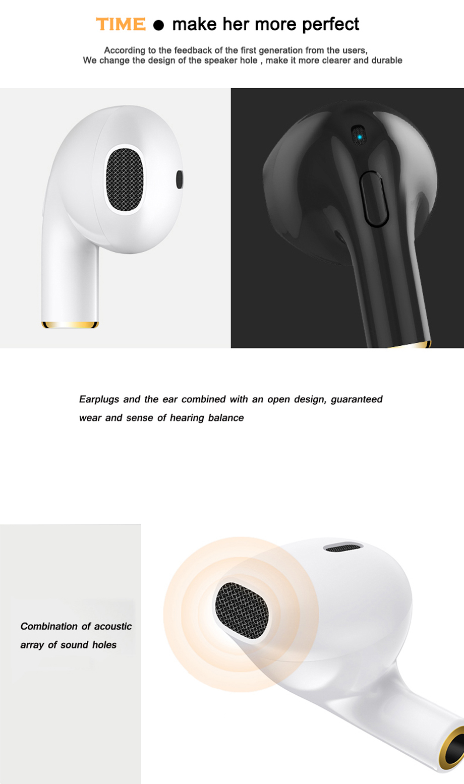 YODELI i8x Bluetooth Earphone Mini Wireless Bluetooth Headset In-Ear Earbuds With Mic For Hands-Free For iPhone X 7 8 Plus 6S 6 (11)
