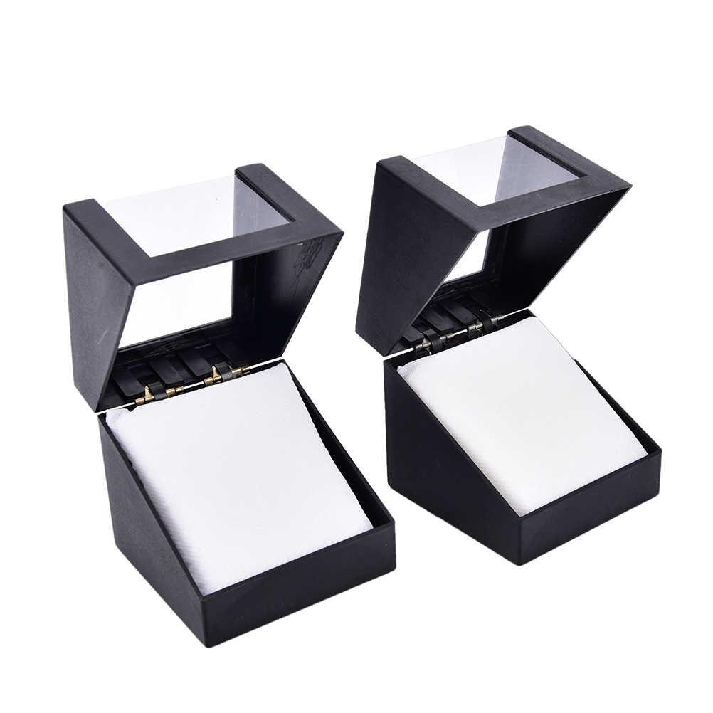 78*78 mét Nhựa Earring Display Lưu Trữ Chủ Jewelry Trường Hợp Trong Suốt Walentine của Ngày Món Quà Kỷ Niệm Đen Cổ Tay Watch hộp