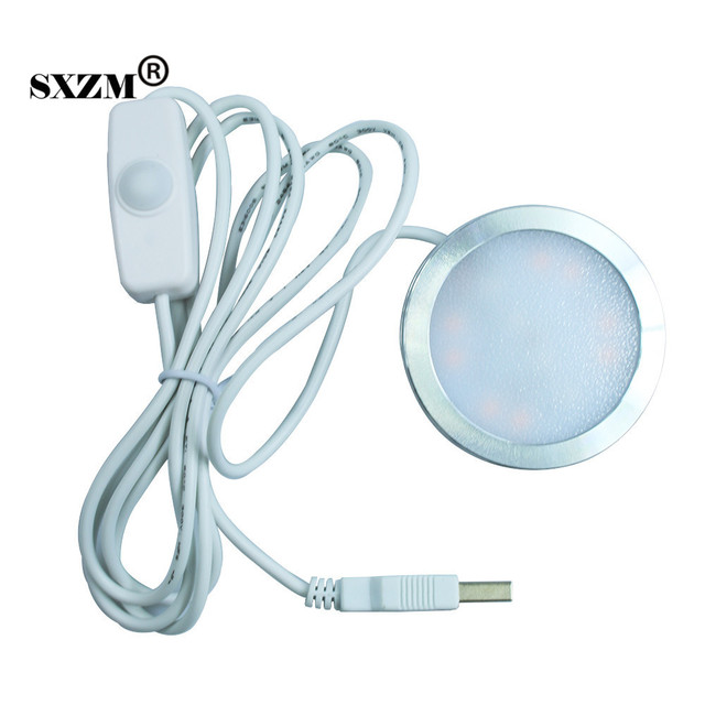 SXZM DC5V Ultra Thin Led Cabinet Light With USB Cable Rechargeable Portable  Closet Light Night Light