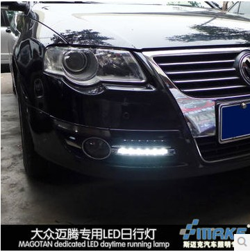 Hireno Car LED DRL Waterproof ABS 12V Daytime Running Lights for Volkswagen Passat B6 2007 11