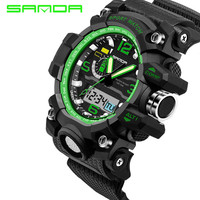 Sport Top Brand SANDA LED Digital Wrist Watch Military Men Shockproof Waterproof Watches Electronic New Xfcs