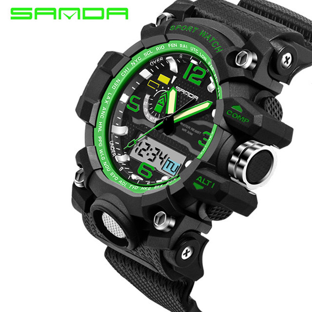 Sport Top Brand SANDA LED Digital Wrist Watch Military Men Shockproof Waterproof Watches Electronic New Xfcs S Shock Wristwatch