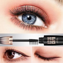 New Mascara Long Curling Black Waterproof Fiber Mascara Makeup Eyelash Mascara Eye Lashes Makeup 4D Silk Fiber Lash