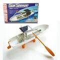 """Frete grátis """"sun seeker"""" energia solar ou energia elétrica dual drive montada modelo de navio barco crianças brinquedo diy presente dois remos"""