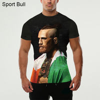 2016 3D Printed The Latest With Short Sleeves T Shirt Novelty Wrestling Boxer Conor Mcgregor Workout