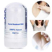 60g cristal déodorant alun bâton corps aisselles déodorant hommes et femmes anti transpirant déodorant bâton