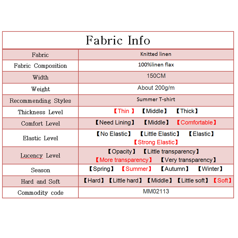 Image 5 - Pearlsilk light thin knitted linen elastic 100%flax garment meterials summer T shirt DIY clothes fabrics FreeshippingFabric   -