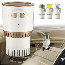 цена на Hot And Cold Car Cup Of Beer Drink Cooling Cup Fast For Car And Home Office Mini Portable Refrigerator Intelligent Hot Cold Cup