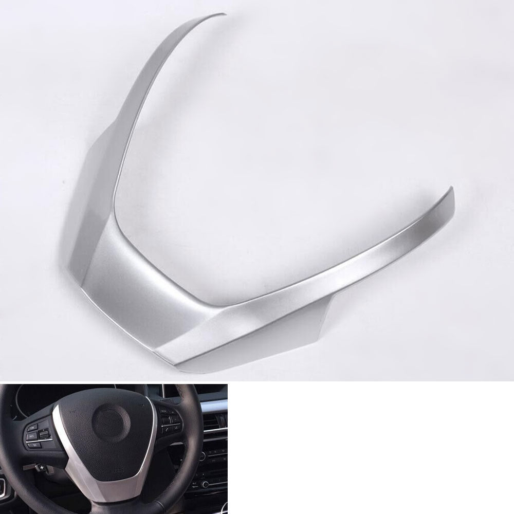 ФОТО 1pcs ABS Car-styling steering wheel sticker decals For 2014 2015 BMW X5 Steering Wheel Part Cover Trim Decoration Accessories