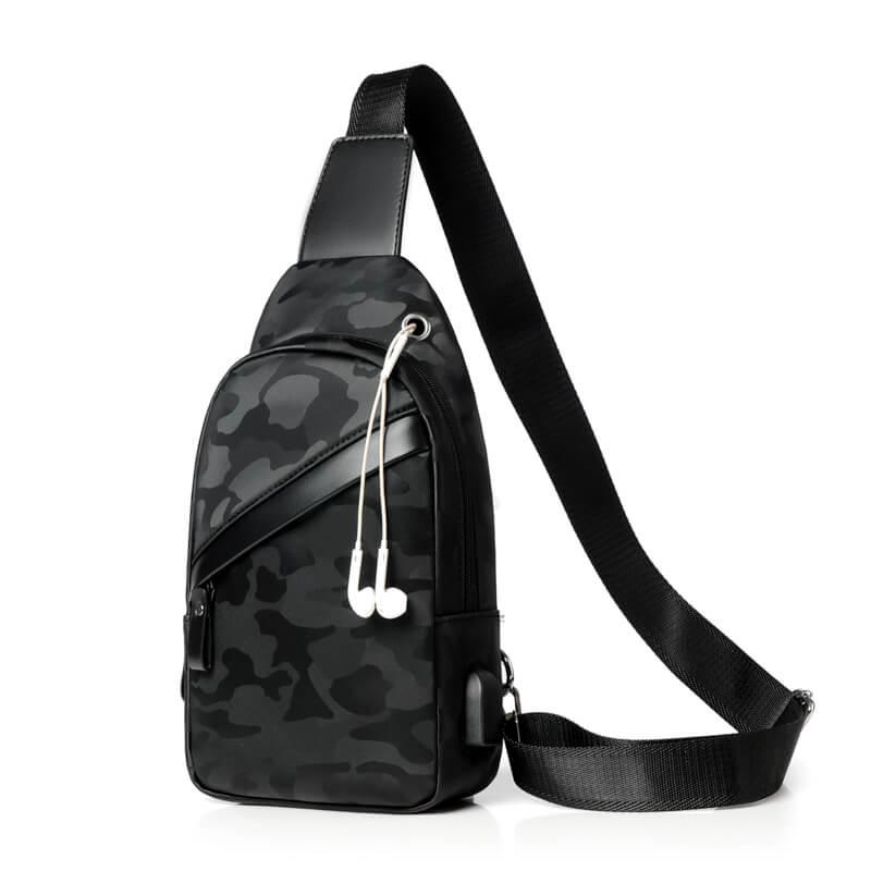 Bolsas de Urso Cor Sólida Zipper Bolsa Crossbody