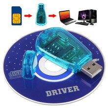 Мобильный телефон Стандартный USB sim-карта ридер копия/Cloner/Писатель/резервный комплект SIM карта ридер GSM CDMA SMS резервное копирование с CD диск