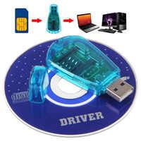 USB estándar lector de tarjetas SIM de teléfono copia de Cloner escritor SMS copia de seguridad GSM/CDMA + CD para Windows XP/Windows Vista/Windows 7. 8,1. GT