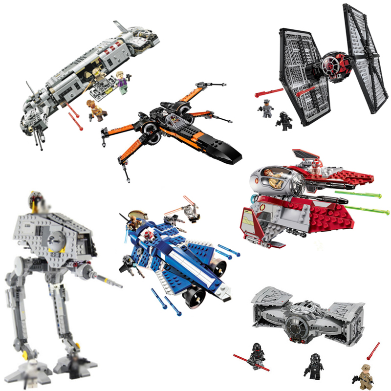 New Star Wars Building Blocks Bricks Toys Space Starwars Action Figures Trooper Fighter Compatible With Legoe Kids Toys Gitfs