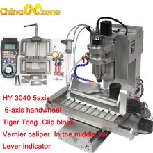 cnczone hy 3040 5axis cnc 22kw mini engraving machine for aluminum diy gift
