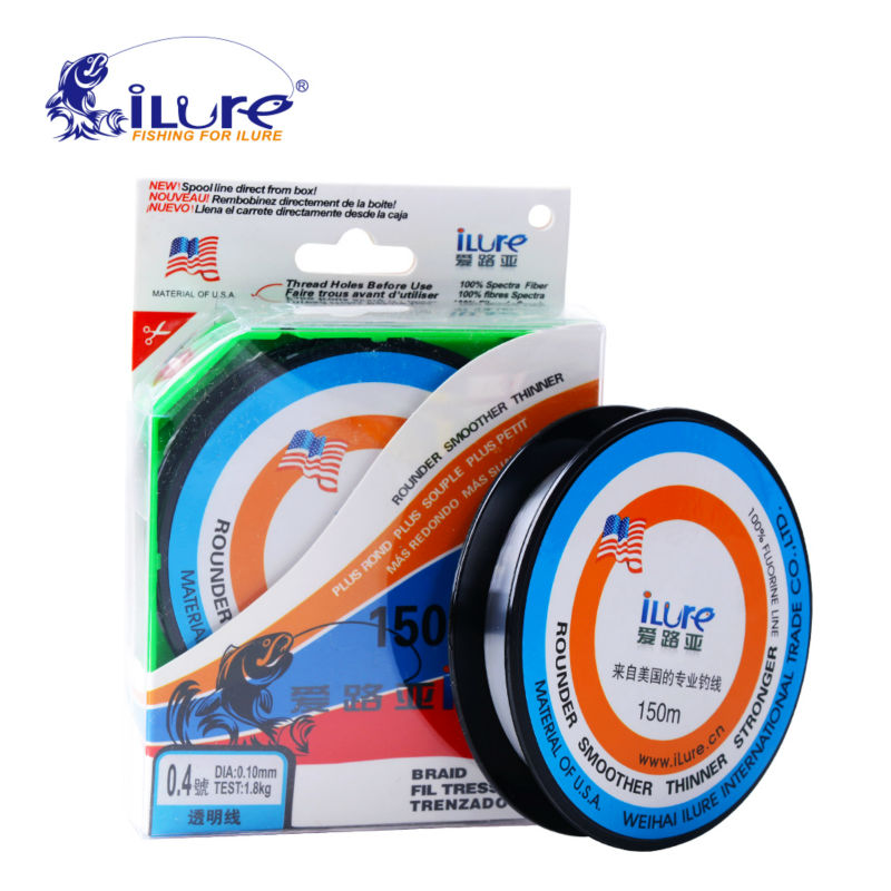 Buy ilure 150m fluorocarbon fishing line for Fishing line leader