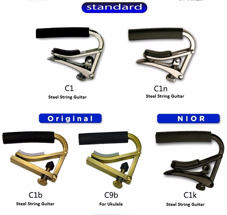 New Shubb C1B Original Brass Capo for Steel String Acoustic /& Electric Guitars