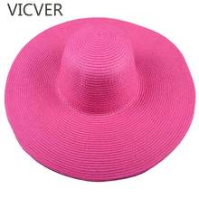 Straw Wide Brim Sun Hats For Women Floppy Beach Summer Cap Casual Vacation Travel Sun Protection Caps Fashion Solid Foldable Hat solid color wide brim sun straw hats women bowknot beach cap summer ladies anti uv sunscreen floppy hat casual travel fold caps