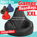 Cover only  No Filler -	Gamer bean bag XXL, adults size BIG beanbag sofa chair, portable furniture cushion ,Waterproof