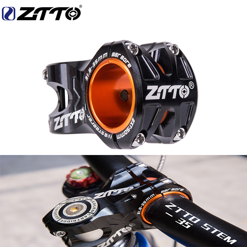 ZTTO Mountain Bike 50mm Stem CNC 35mm 31.8mm Handlebar Bicycle ultralight 0 ° Rise DH AM Stem Enduro 28.6mm bike steering wheel