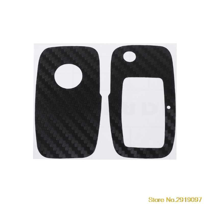 Carbon Fiber Car Key Sticker For VW Polo Passat B5 B6 Golf 4 5 6 Jetta MK6 Tiguan Eos Drop Shipping Support