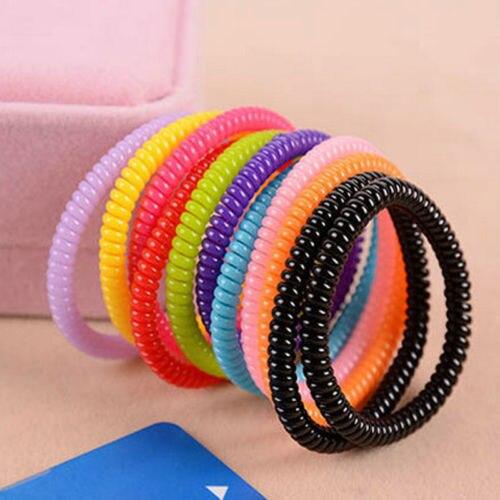 1 unidad/lote, nuevo, para mujer, súper fino, para niñas, lazos de goma coloridos para teléfono y cuerdas de plástico, accesorios de bandas para el cabello