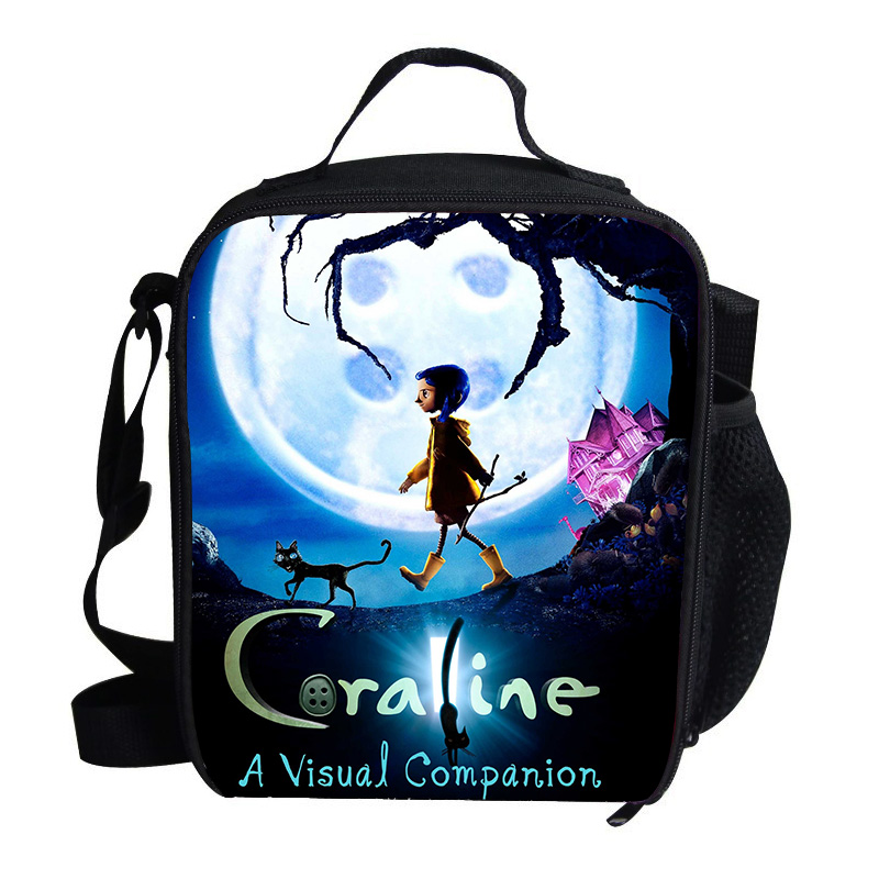 Anime Movie Coraline Kids Cooler Bags For Women Children School Picnic Pack Girls Boys Insulated Termica Food Cooler Bag Cooler Bags Aliexpress