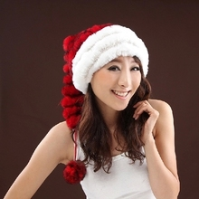 Winter hats for women cap hip hop Warm 100% Real Fur Women's Hats knitted rabbit fur hat new fashion 2016 Christmas Fur Hat