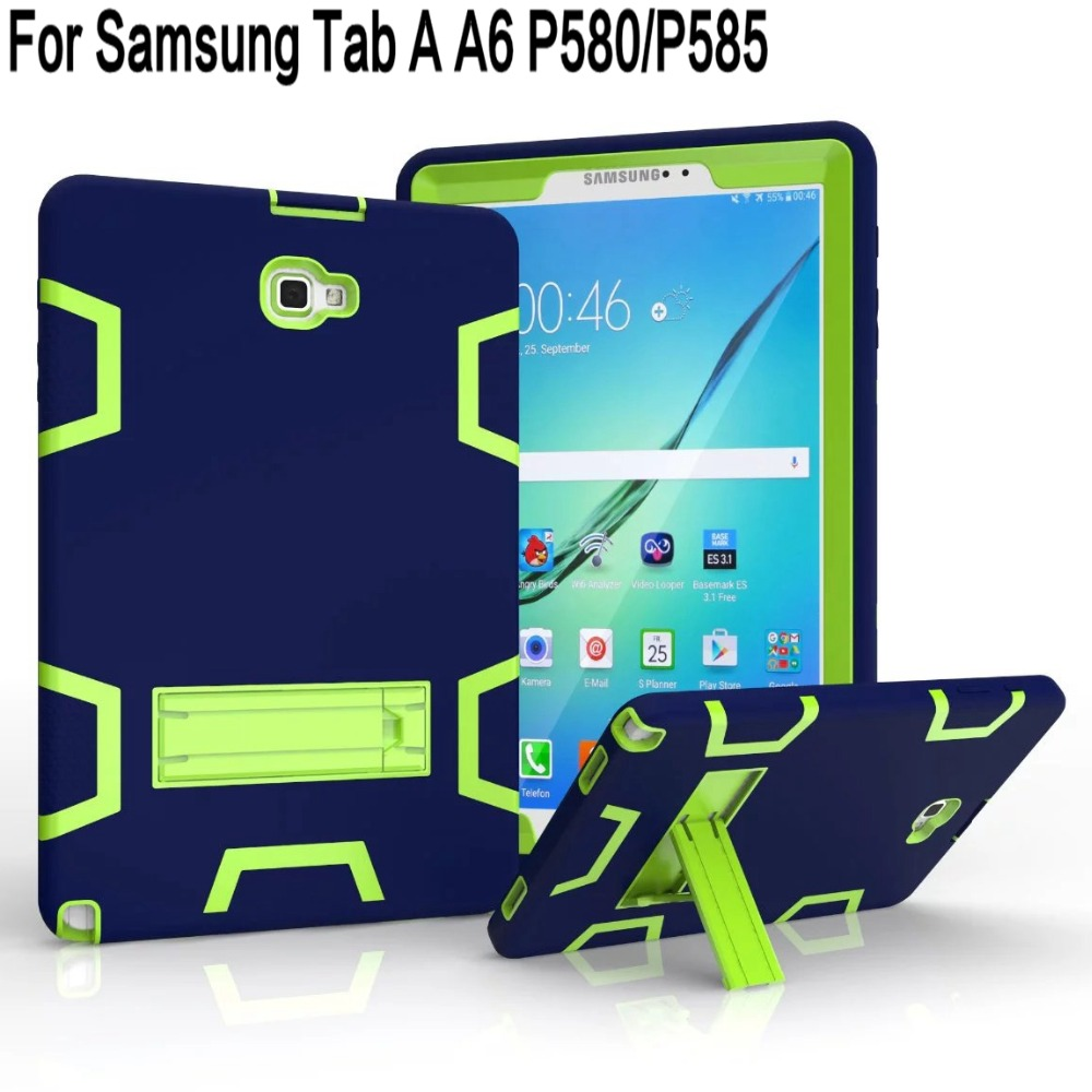 heavy duty hybrid silicone drop proof cover for samsung galaxy tab a a6 with s pen p580 p585 10. Black Bedroom Furniture Sets. Home Design Ideas