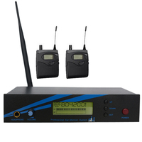 Pro In Ear Monitor Systems Stage Wireless Monitor System 1 Transmitter 2 Receiver Musical Instruments DJ