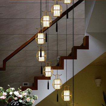 Custom Cage Duplex Villa Rotating Stairwell Long Pendant Lights Chinese Bar  Counter Living Room Dining Light wf4261643 - buy at the price of $43.99 in  aliexpress.com | imall.com
