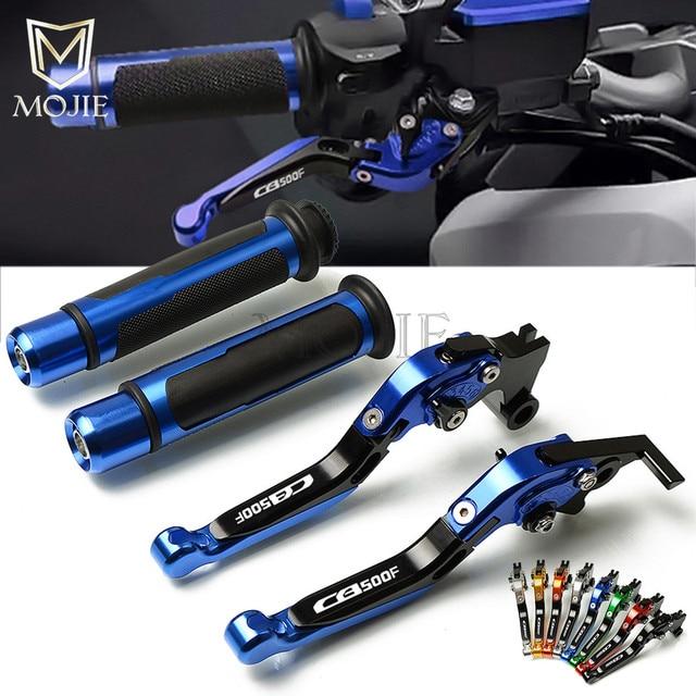 Motocykl CNC regulowany składany dźwignia hamulca sprzęgła uchwyty do Honda CBR500R CB500F CB500X CBR CB 500 R F X 2013 2018