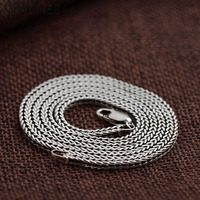 2.3mm Vintage 925 Sterling Silver Chain Necklaces For Men Women Jewelry Real Thai Silver Necklace Fine Jewelry Accessories