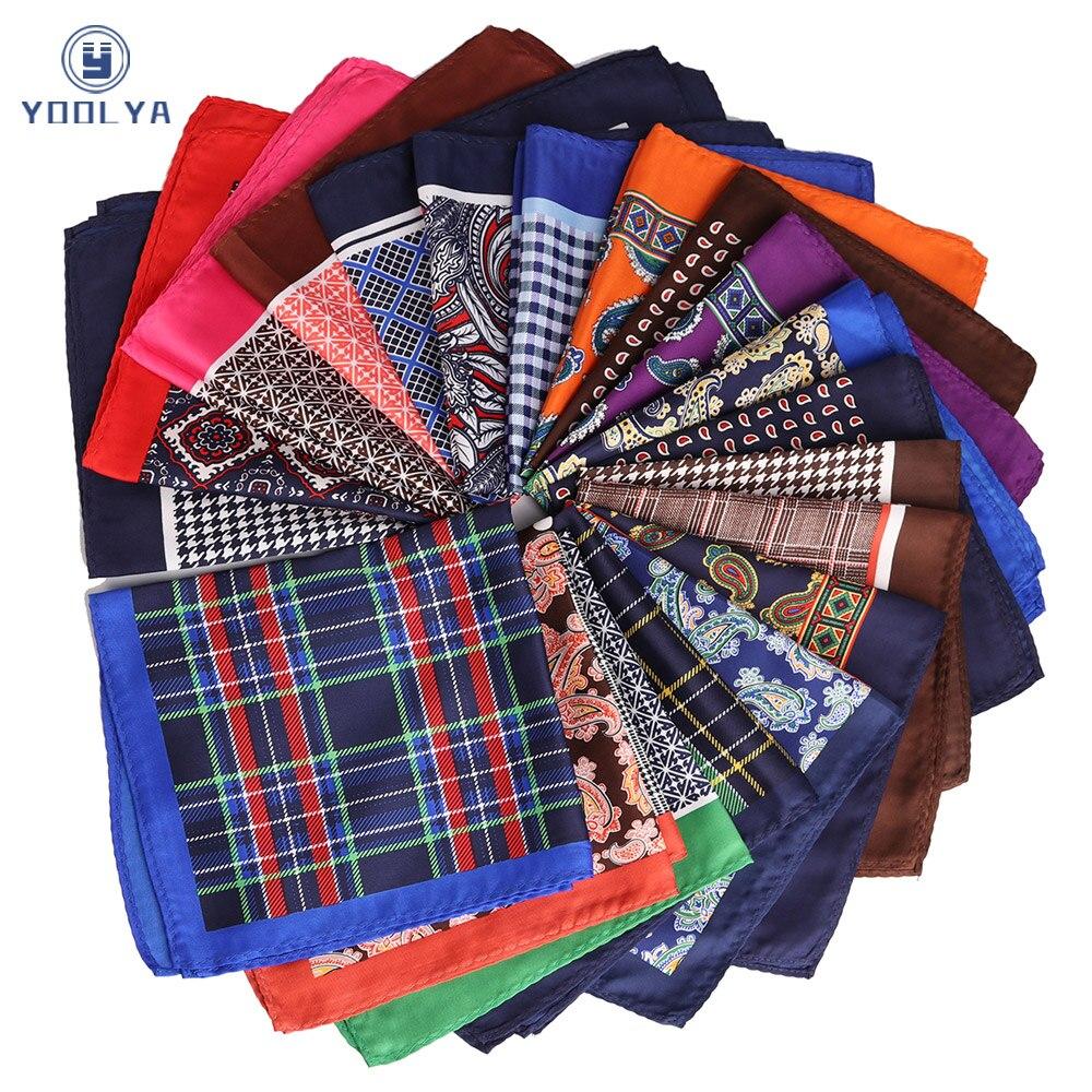 New 33 X 33CM Mans Polka Dot Stripes Flower Pocket Square Hankies Chest Towel Big Size Handkerchief For Men Suit Wedding Party