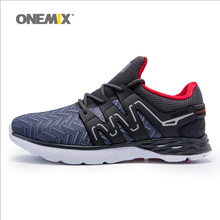 Onemix Autumn&Winter Men's Running Shoes Ultra-light Anti-Slip Heel Protect Sneakers Sports Shoes Running Black Free Shipping