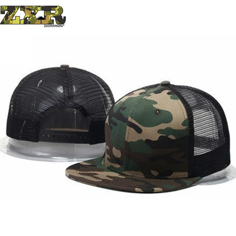 men Summer Baseball Mesh Cap Snap Back Tactical Fashion Hats Trucker Adjustable Hat Camouflage Hip Hop God Women For Adult