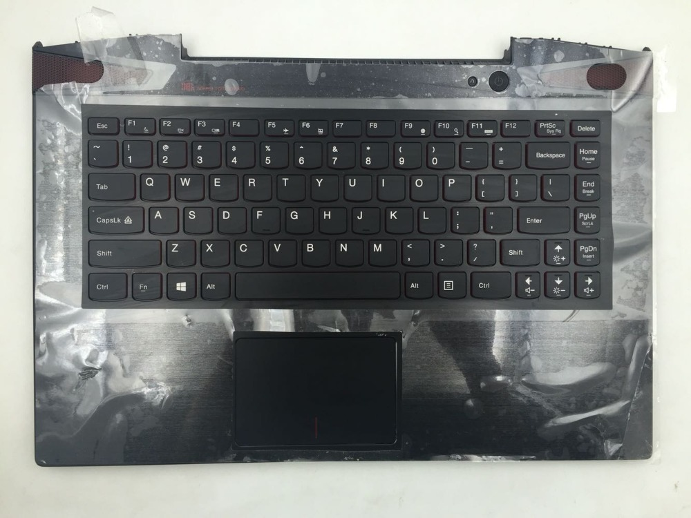 New Original Palmrest with US Backlight Keyboard for Lenovo IdeaPad Y50 Y50-70 KB Bezel Upper Cover with TouchPad AP14R000A00 new laptop for lenovo chromebook n22 11 6 english us keyboard palmrest black touchpad cover case