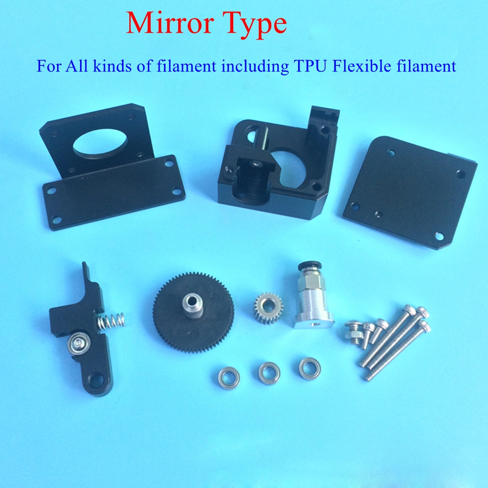 Updated Mirror Type Bowden Extruder All Metal TITAN Aero Extruder Kit TPU Flexible Filament for 1