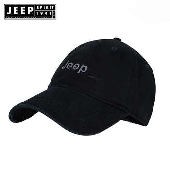 JEEP SPIRIT Brand Hot Retro Washed Baseball  Fitted Cap Snapback Hat For Men Bone Women Gorras Casual Casquette Letter Black Cap - DISCOUNT ITEM  0% OFF All Category