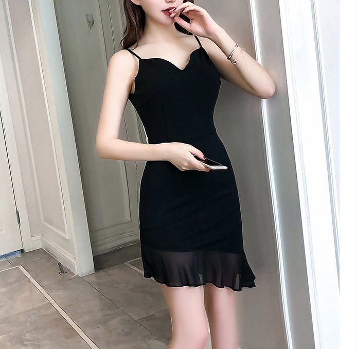 New women clothes 2019 Spring and summer new style Temperament V neck dress Low cut package hip nightclub tight dress Slim dress in Dresses from Women 39 s Clothing