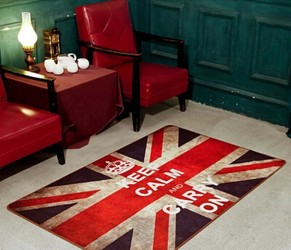 British Style Union Jack British Flag Bedroom Area Rug