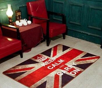 British style Union Jack British flag bedroom area rug, living room coffee table floor mats Vintage living room mat cute carpet