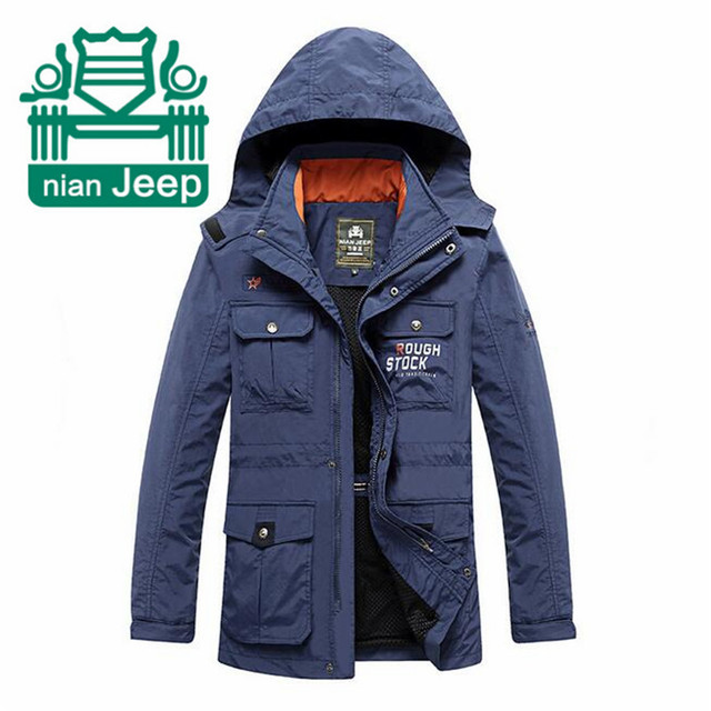 Nian AFS JEEP New Design Professional Casual Waterproof Jacket,Detachable Hat Quickly Dry New Outwear,Summer Man's Jacket
