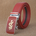 [TG] 2016 New Designer Good Quality Red Strap Dragon Men Belts Automatic Buckle Waistband Cow Leather Cintos Ceinture for Men