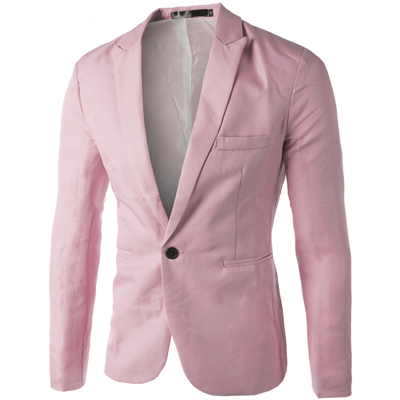 Light Pink Blazer Mens