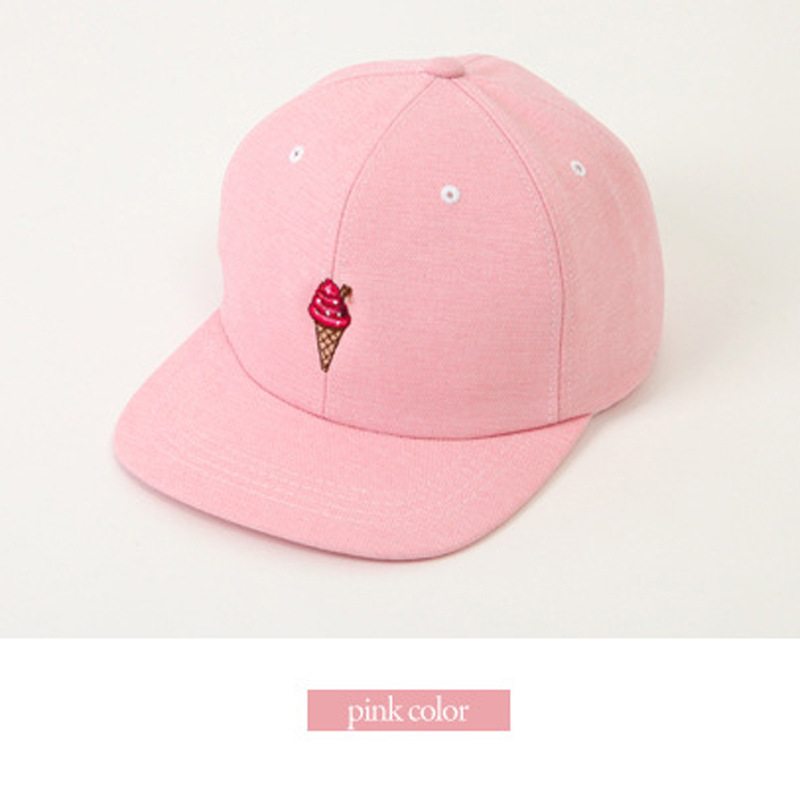 baseball hats caps cute style ice cream candy color flat hip hop hat pink hot leather cap suede polo