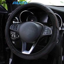 Steering-Wheel-Cover Car FORAUTO Car-Styling Anti-Slip 37-38cm Carbon-Fiber Suitable-For